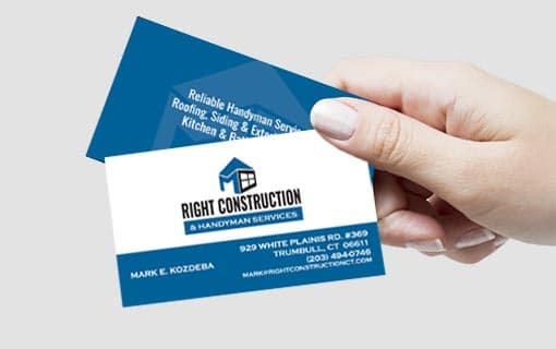 Design Formare Inc - Right Construction Business Card Design
